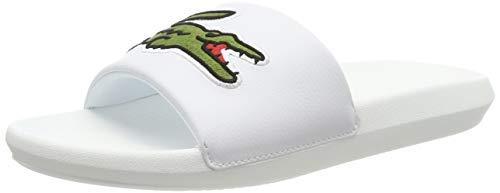 Lacoste Herren Croco Slide 319 4 US CMA Badeschuhe, Weiß (White/Green), 42 EU