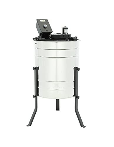LYSON 4-Waben Honigschleuder Diagonalschleuder Ø600 elektrisch, universal, Honigextractor mit elektrischem Antrieb aus säurebeständiger Edelstahl, Tangentialschleuder für 4 Rähmchen