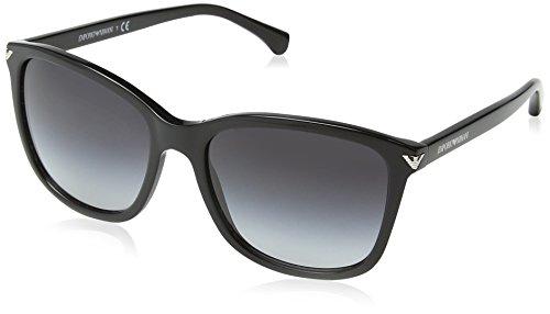 Emporio Armani Unisex Sonnenbrille, Schwarz (Black 50178G), Large (Herstellergröße: 56)