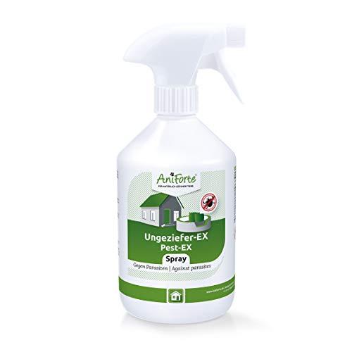 AniForte Ungeziefer-Ex Spray 500ml – Umgebungsspray bei akuten Befall gegen Mücken, Insekten, Milben, Läuse, Bettwanzen, Ungeziefer Spray für Zuhause, Hunde & Katzen Liegeplätze, Insektenspray Abwehr