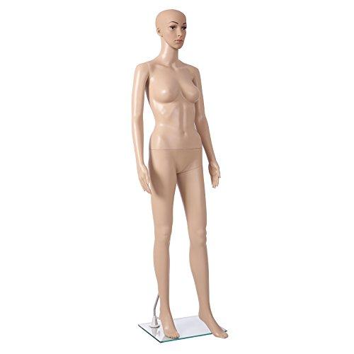 SONGMICS Schaufensterpuppe weiblich schöne sexy Mannequin frau stehend beweglich MPLM05