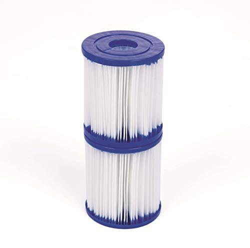 Bestway 58093 Filterkartuschen Gr.I, Durchmesser 8 cm, Höhe 9 cm 2-er Set