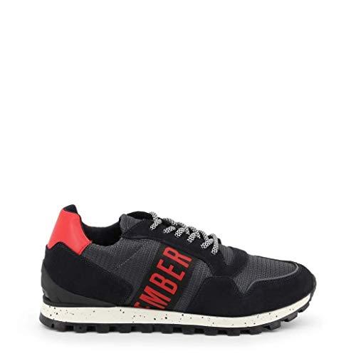 Bikkembergs Herren Fend-ER 2356 Sneaker Mehrfarbig (Dark Grey/Blue 415) 45 EU