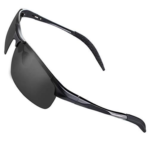 CHEREEKI Sports Sonnenbrille, Polarisierte Fahrradbrille mit UV400 Schutz, Sportbrille für Herren Damen Radfahren Autofahren Fischen Laufen Wandern Laufen