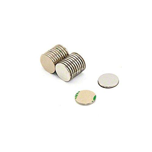 Magnetastico® | 20 Stück Selbstklebende Neodym Magnete N52 Scheibe 10x1 mm | Starke Klebemagnete mit 3M Marken-Klebeband | N52 Magnete mit Klebefolie selbstklebend extra hohe Haftkraft