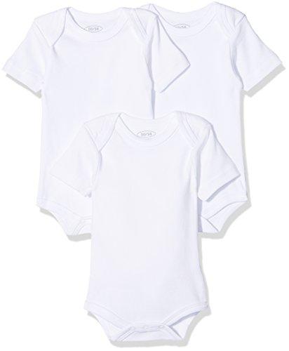 Schnizler Unisex Baby Kurzarm, 3er Pack Uni, Oeko-Tex Standard 100 Body, Weiß (weiß 1), 74 (Herstellergröße: 74/80)