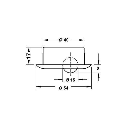 Gedotec Sockelsauger Sweepovac zum Einbauen unter Kücheneinheiten   Küchen-Staubsauger mit Edelstahlplatte   330 x 110 mm   Leistung 650 W   mit 5 Staubbeutel im Set