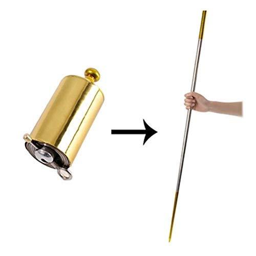 Magician Role Play Props - Portable Professional Magic Wand Magic Telescopic Props Funny Staff Magic Canes, Best-Bag Metal Magic Wand (Silver)