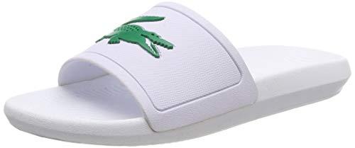 Lacoste Herren Croco Slide 119 1 CMA Badeschuhe, Weiß (White/Green), 44.5 EU