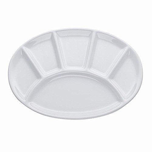 Fondueteller oval 28cm weiß