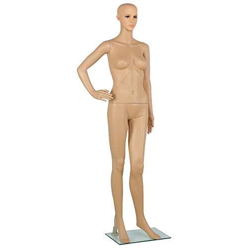 Yaheetech Schaufensterpuppe weiblich Mannequin Ganzkörper, zerlegbar drehbar beweglich