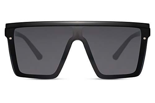Cheapass Sonnenbrillen Massive Übergröße XXL Schwarz Shield Schwarz einteilige Linse UV400 Frauen