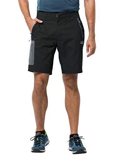 Jack Wolfskin Herren Active Track Shorts, Black, 56
