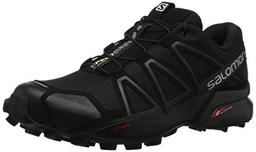 Salomon Herren Speedcross 4 Traillaufschuhe, Black/Black/Black Metallic, 43 1/3 EU