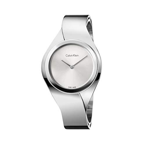 Calvin Klein Damen Analog Quarz Uhr mit Edelstahl Armband K5N2M126