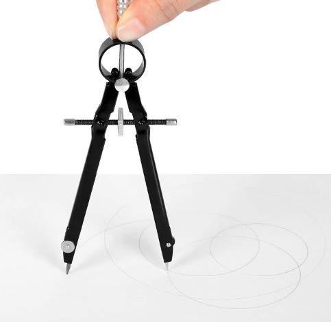 Professioneller Kompass mit Schloss, Geometrie, 6-Zoll-Federkompass, Präzisionsmathematik, Zeichnen, Comp-Schwarz