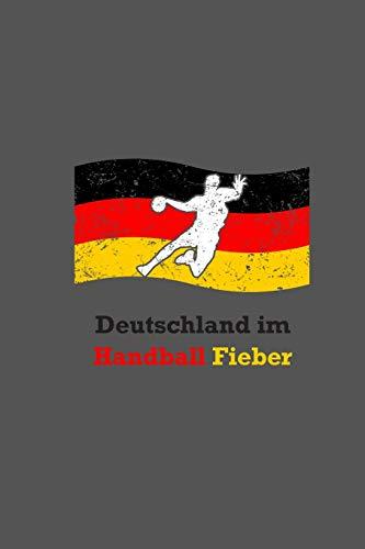 Deutschland Im Handball Fieber: Handballer Punktraster A5 Notizbuch | Handball Nationalmannschaft Notizheft | Geschenkidee Handballspieler & Handballspielerinnen
