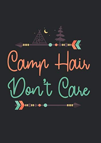 Notizbuch kariert mit Softcover Design: Camp Hair don't Care - Camping Haare Campingbus Camper Van