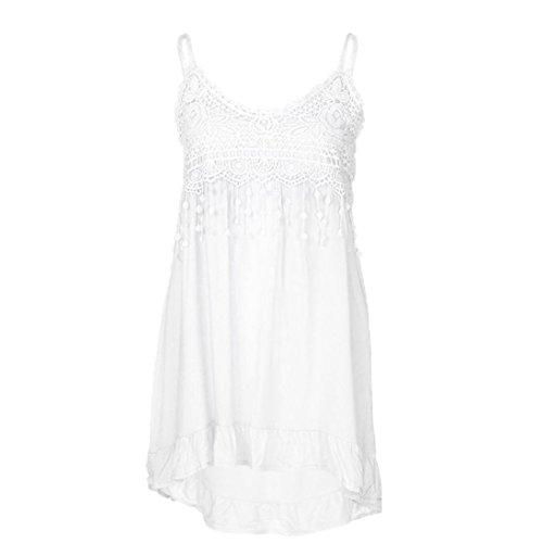 ESAILQ Damen Kurzarm Bluse Schulterfrei Batwing Weit Rundhals Carmen Oberteil Tops T-Shirt Sommerbluse(XL,Weiß)