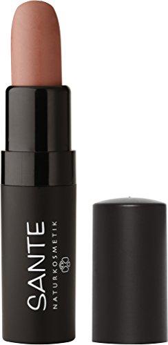 SANTE Naturkosmetik Lipstick Mat Matt Matte Lippenstift, 01 Dusty Beige, Matt-Effekt, Intensive Farbpigmentierung, 4,5g