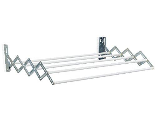 Leifheit Wandtrockner Classic 38 Extendable, 3,8m Trockenleine, ausziehbarer Wandtrockner, platzsparender Trockner, 5 Trockenstäbe, Wäschetrockner für die Wand, Wäschereck mit Wandmontage