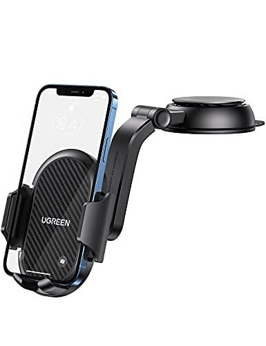 UGREEN KFZ Handyhalterung Auto Saugnapf Armaturenbrett 360°Autohalterung Handy Halterung PKW Universal Handyhalter fürs Auto kompatibel mit iPhone 11 12 Pro Max XR, Galaxy S21 S20, Redmi Xiaomi Huawei