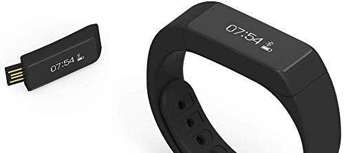 Boje Sport Fitnessarmband, Aktivitätstracker, iwown i5 Plus P65, Smart Barcelet, Fitness Tracker - Farbe: schwarz