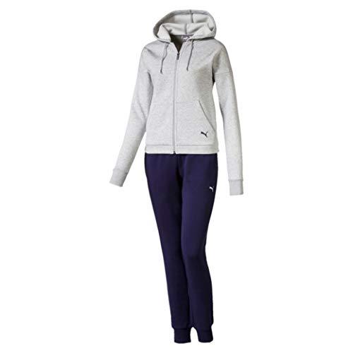 PUMA Damen Classic Hd. Sweat Suit, cl Trainingsanzug,grau(Light Gray Heather),S