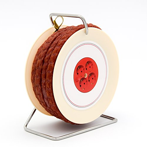 Pikanten Wurst Snack auf Kabeltrommel - 3,5 Meter Wurst nach Krakauer Art auf einer Mini Kabel-Trommel - 240 g