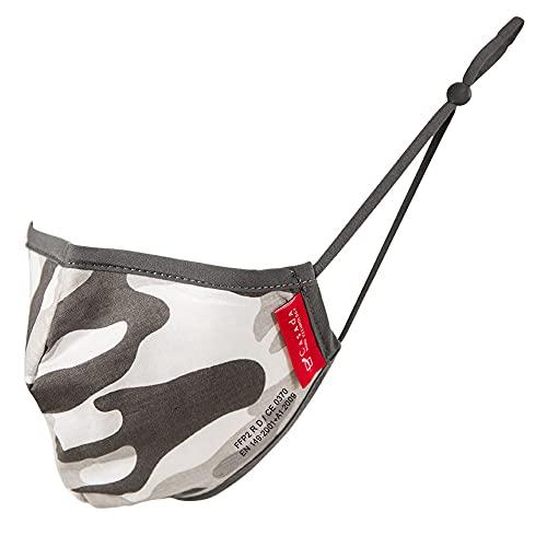 FFP2 zertifizierte Nano-Maske camouflage 5 Stück Casada - Gesichtsschutz Hygiene Schutzmaske Mehrwegmaske Mundschutz Wiederverwendbar Waschbar Baumwolle
