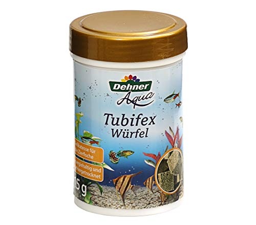 Dehner Aqua Zierfischfutter, Tubifexwürfel, Bachröhrenwürmer, 125 l