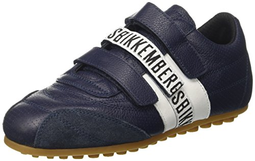 BIKKEMBERGS Unisex-Erwachsene Soccer 106 Sneakers, Blau (White/Bluette), 36 EU