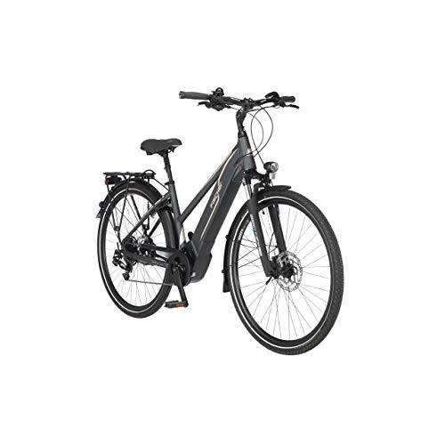 FISCHER Damen - Trekking E-Bike VIATOR 5.0i, Elektrofahrrad, schiefergrau matt, 28 Zoll, RH 49 cm, Brose Drive C Mittelmotor 50 Nm, 36 V Akku im Rahmen