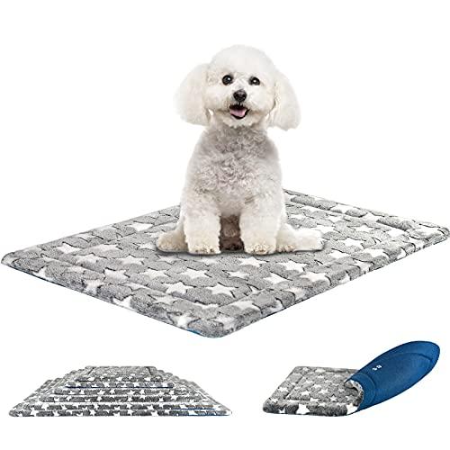 KROSER Hundematte 61CM Stilvolles Haustiermatte Wende Bettbettmatte (Kühl und Warm) Weiches Hundebett Schaumstoff mit hoher Dichte Waschbar Haustierbett für Kleine Hunde und Katzen bis zu 11Kg MEHRWEG