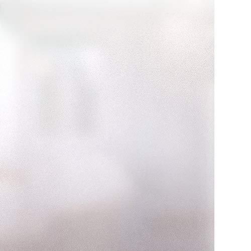 rabbitgoo Milchglasfolie Selbstklebend UV Hitzeschutzfolie Fensterfolie Statisch Haftend Sichtschutzfolie Fenster mit Anleitungen Für Wohnzimmer Arbeitszimmer 60 x 200 cm Weiß Matt