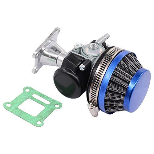 Tuning Vergaser mit Luftfilter für 2 Stroke 47cc 49cc Mini Pocket Bike ATV Gruppe Motorrad Blau