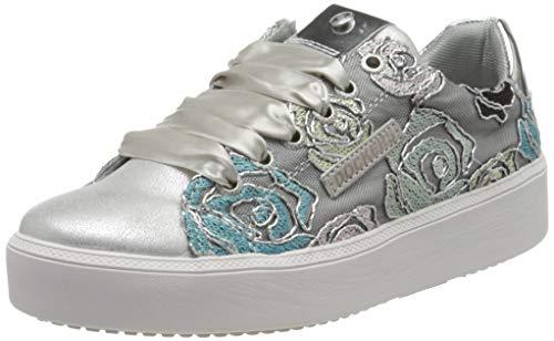 Dockers by Gerli Damen 44NA201-706555 Sneaker, Silber (Silber/Weiss 555), 42 EU