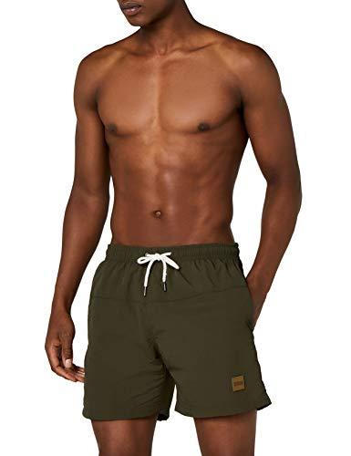 Urban Classics Herren Badehose Block Swim Shorts, Olive, XL
