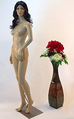 Tonhan SF-3 Schaufensterpuppe weiblich mit 2 Perücken gratis. Beweglich. Frau in Hautfarbe