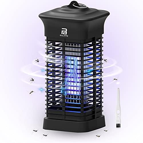 Balippe Insektenvernichter Elektrisch, 3000V Mückenkiller 15w Elektrisch Insekten Mückenfalle,360°Rundum UV-Licht Keine Chemikalien Mosquito Killer Für Innen Schlafzimmer Küche Und Aussen Gärten,80㎡