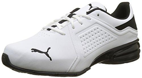 Puma Herren Viz Runner Sneaker, Weiß White Black, 44 EU
