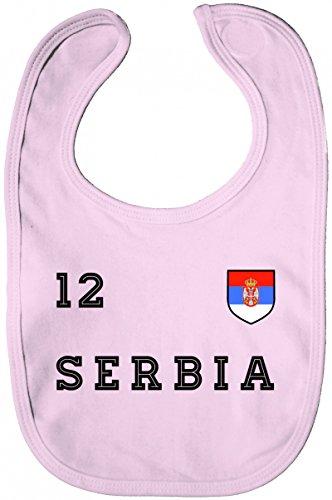 Serbia Fußball WM Fanfest Gruppen Lätzchen Baumwolle Baby Bib Jungen Mädchen Trikot Serbien, Größe: onesize,Powder Pink