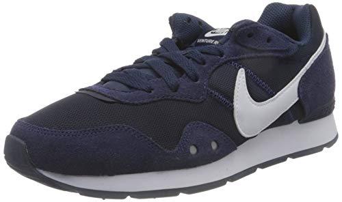 Nike Mens Venture Runner Sneaker, Midnight Navy/White-Midnight Navy,44.5 EU