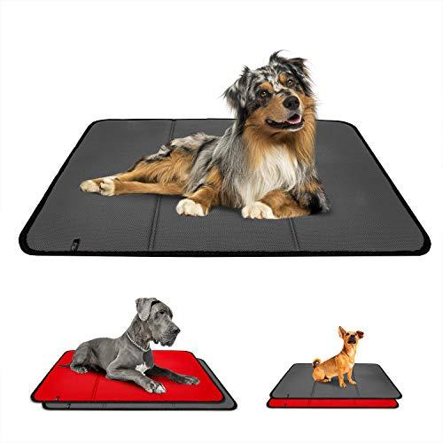 Effaband – Hundedecke Made in Germany/rutschfeste & waschbare Hundematte mit Einer Liegefläche aus einem 3D Abstandsgewirke (3D Air Mesh) zur optimalen Luftzirkulation (60x80cm) - Grau