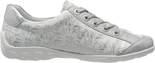 Remonte Damen R3435 Sneaker, Silber (Ice/Weiss/Silber/Argento 80), 42 EU