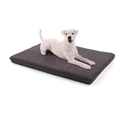 brunolie Nala kleine Hundedecke in Dunkelbraun, rutschfeste Hundematte mit Reißverschluss, für Hunde und Katzen geeignet, Größe S (80 x 60 x 5 cm)