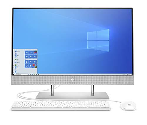 HP 27-dp0021ng (27 Zoll /FHD) All-in-One PC (Core i3-1005G1, 8GB DDR4, 512GB SSD + 1TB HDD, Intel UHD Grafik, Windows 10 Home) Silber