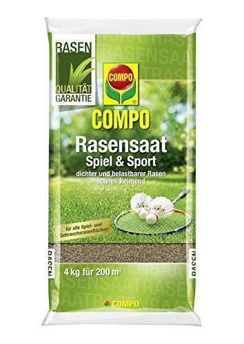 COMPO Rasensaat Spiel und Sport, Universelle Rasenmischung, 4 kg, 200 m²