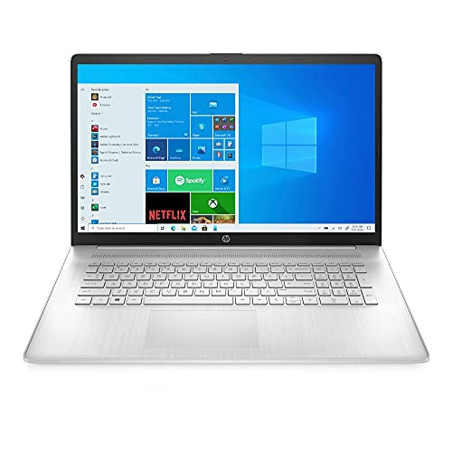 HP 17-cp0253ng (17,3 Zoll / HD+) Laptop (AMD Ryzen 5-5500U, 8GB DDR4 RAM (2x4), 512GB SSD, AMD Grafik, Windows 10, QWERTZ-Layout) silber