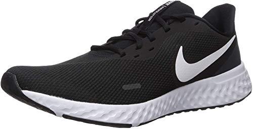 Nike Herren Revolution 5 Sneaker, Schwarz Black White Anthracite, 43 EU